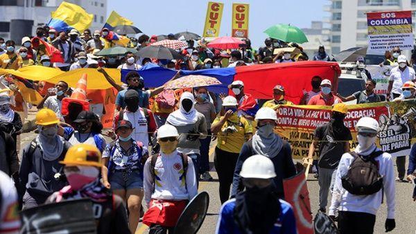 Desde el 28 abril y por 50 días consecutivos se desarrollaron protestas y movilizaciones contra las medidas neoliberales del Gobierno colombiano.