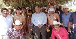 """Las comunidades indígenas """"padecieron la más brutal represión que se haya registrado en la historia de México"""", dijo AMLO."""