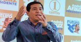 Arauz denunció que Lasso cometió delitos de perjurio, evasión fiscal, atentado a la democracia y testaferrismo.
