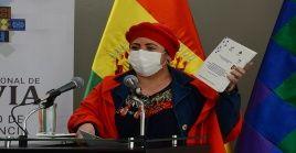 La ministra de la Presidencia remarcó que el Ejecutivo boliviano responde y seguirá haciéndolo a los intereses del pueblo.