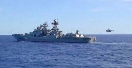 Los buques efectuarán maniobras tácticas conjuntas, que incluyen pruebas de artillería contra objetivos marítimos.
