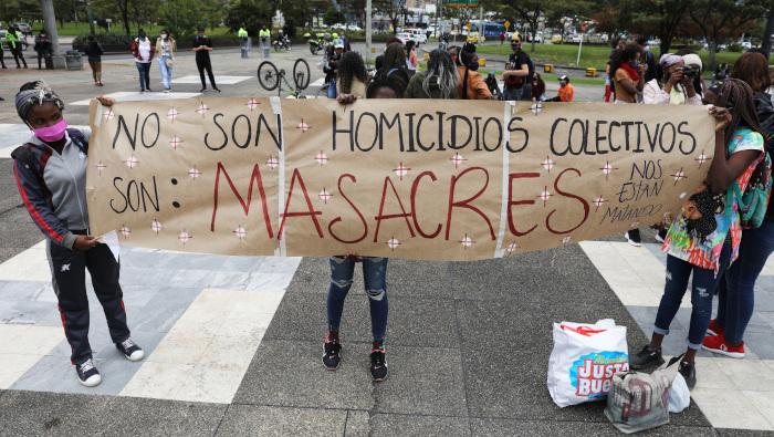 Mueren cuatro jóvenes en nueva masacre en Antioquia, Colombia
