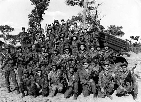 Cuban soldiers, veterans of Cuito Cuanavale