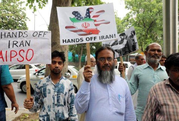 India - protestas Pompeo
