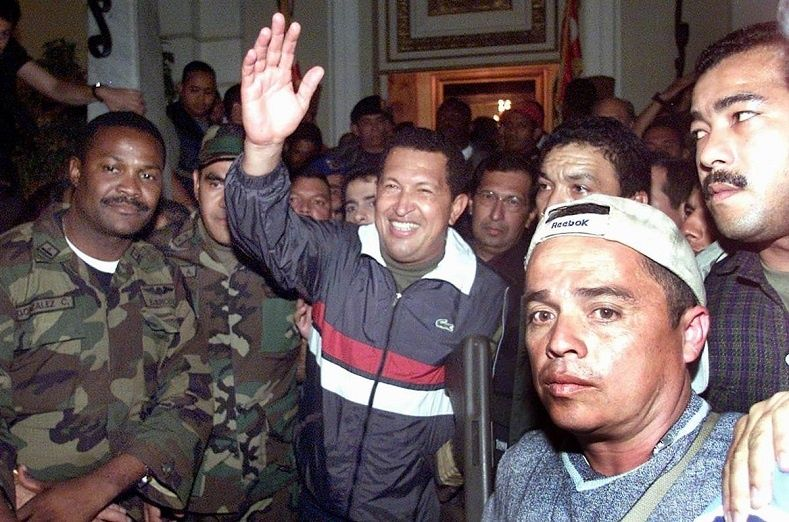 Hugo Chavez was rescued and restored to power on April 13, 2002.