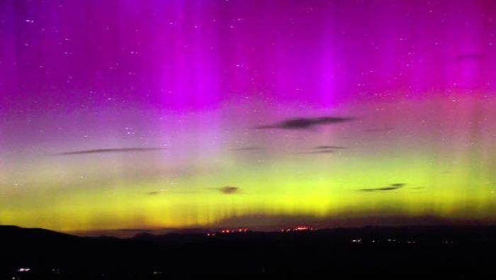 Auroras boreales en América del Norte por tormenta solar
