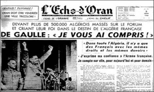 Resultado de imagen para Fotos: De Gaulle reconoce la independencia de Argelia