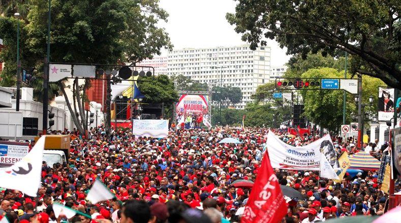 La multitudinaria marcha exigió a la AN se respete la constitución