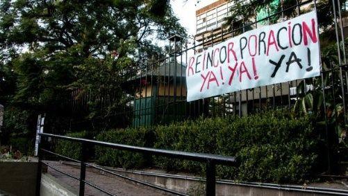 En mayo de 2016 el presidente de Argentina procedió al veto de la Ley Antidespidos. Foto Oscar Alerta.