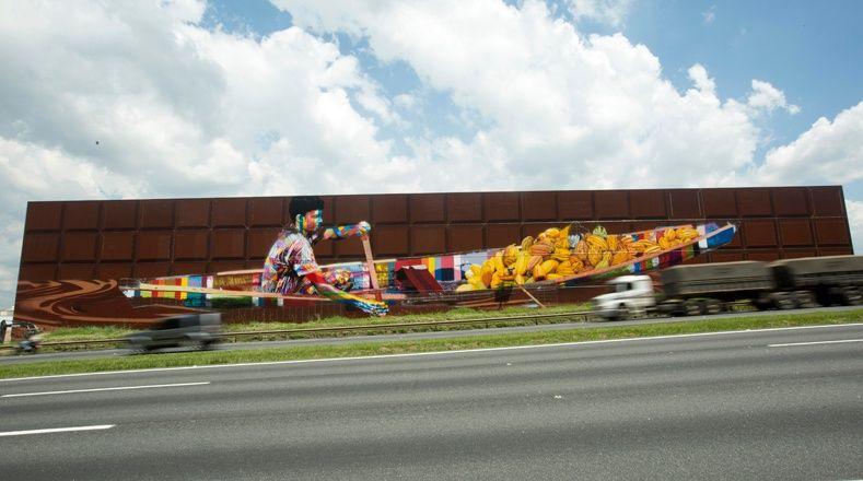 Resultado de imagen para Eduardo Kobra graffiti más grande del mundo
