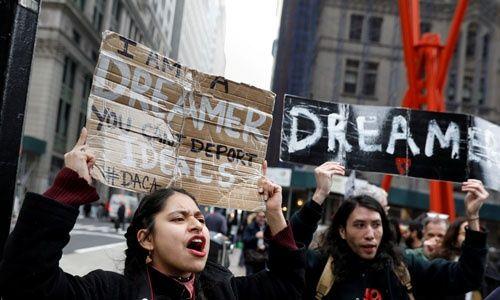 Los jóvenes piden defender el programa DACA y proteger a los millones de beneficiados. I FUENTE: Reuters