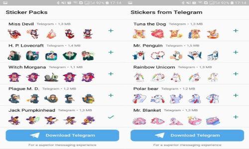 Conoce los nuevos stickers de Telegram para WhatsApp