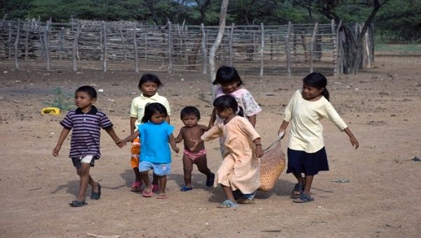 Children have been worst hit by severe water shortages on La Guajira peninsula.