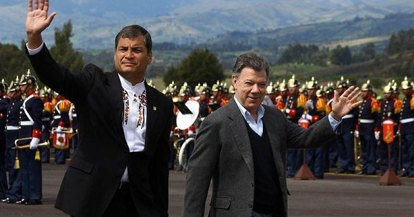 Ecuadorean President Rafael Correa and Colombian President Juan Manuel Santos have previously agreed to hold ELN talks in Ecuador.