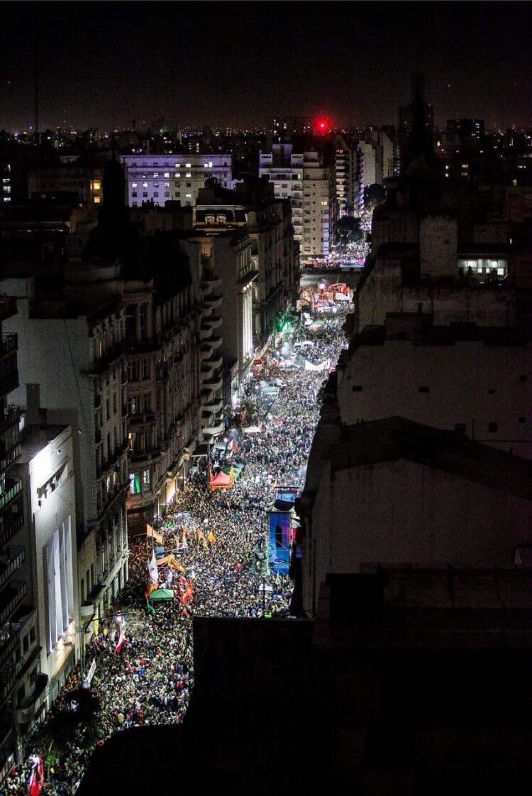 Argentines hold vigil in support of the bill.