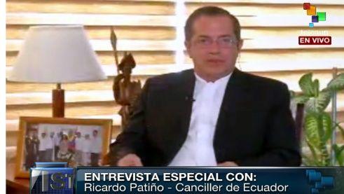 El canciller de Ecuador, Ricardo Patiño, manifestó que no tolerarán estas nuevas agresiones contra Venezuela.